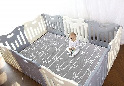 Baby-Care-Play-Mat-Pen-Grey
