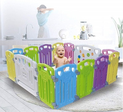 Baby-Playpen-Kids-Activity-Centre-Safety-Play-Yard-Home-Indoor-Outdoor