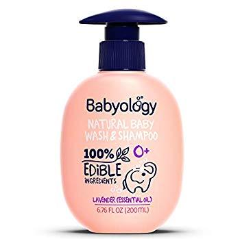 Babyology – 100% Edible Ingredients – Baby Wash & Shampoo – Organic Lavender (Essential Oil)