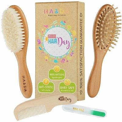 4-piece-natural-baby-wooden-hair-brush-set-free-nail-file-babys-grooming-kit