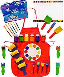 48 Piece Set Paint Brushes-Little Kids Art Set