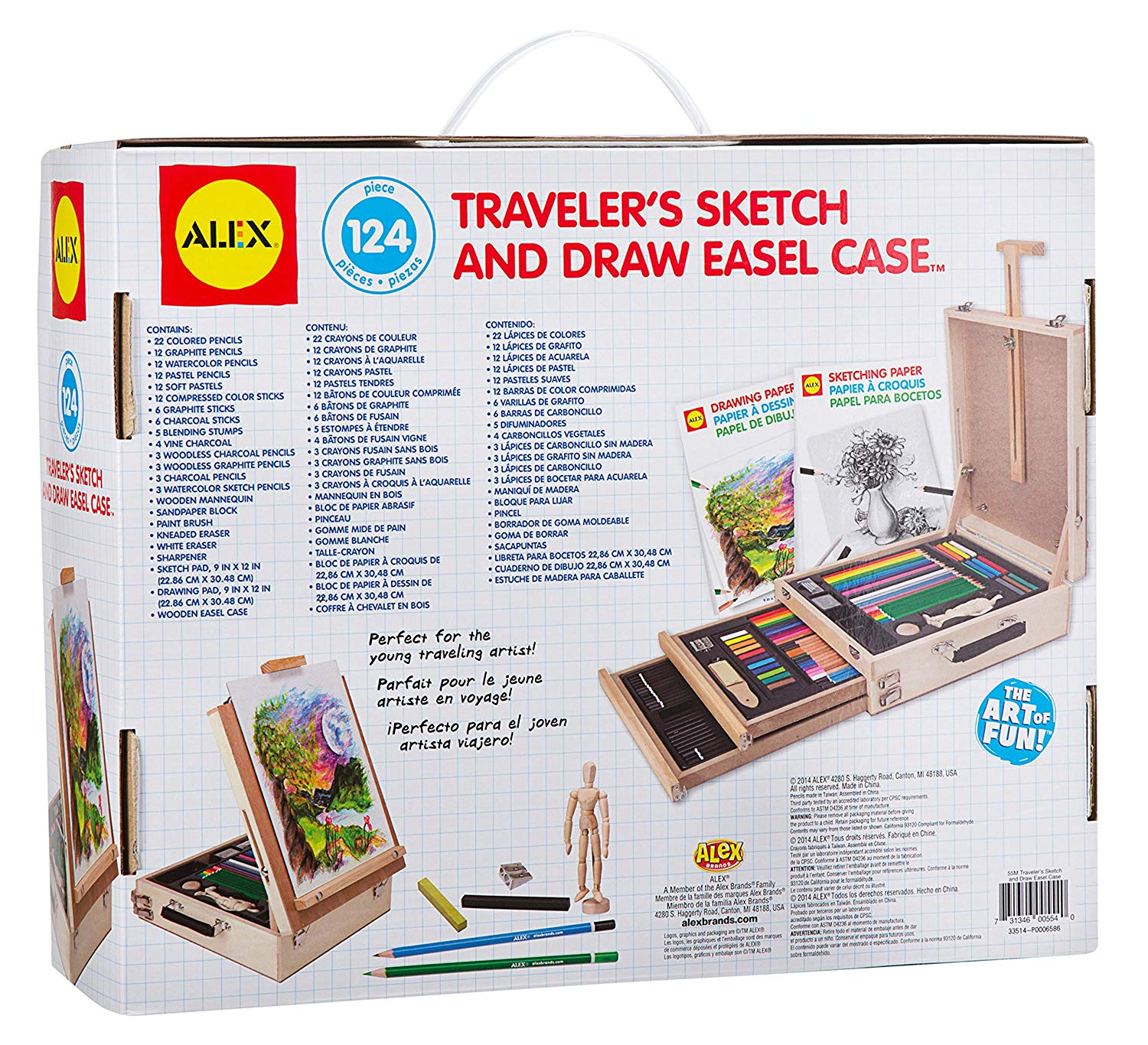 ALEX Toys Traveler's Sketch and Draw Easel Case