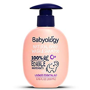 Babyology – 100% Edible Ingredients – Baby Wash & Shampoo – Organic Lavender (Essential Oil)