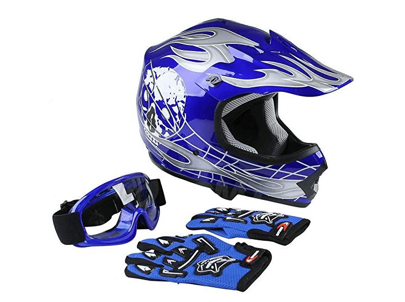 TCMT Dot Youth & Kids Motocross Off-road Street Helmet+Goggles+Gloves